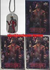 Star-Lord Dog Tag + 2 Base Cards & 1 Foil Card - Upper Deck Marvel Dossier