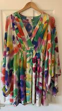 H&M Colección de jardín Impresión Brillante Kimono Caftán Playa Vestido 34 UK 6/8