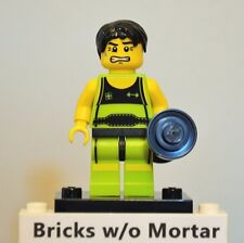 New Genuine LEGO Weightlifter Minifig with Weights Series 2 8684