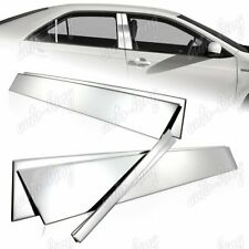 STAINLESS MIRROR CHROME DOOR PILLAR POST COVER TRIM 6-PCS FIT 12-16 TOYOTA CAMRY
