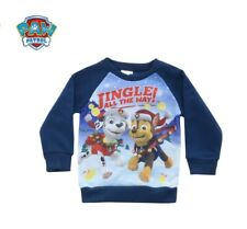 Official  Paw Patrol Boys Kids Christmas Jumper Sweater With Marshall And Chase