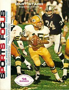 1968 Sports Focus football magazine Bart Starr, Green Bay Packers VG