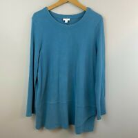 Pure Jill Women's Tunic Top Oversized Blue Lagenlook Size Large
