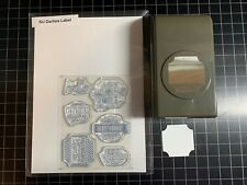 STAMPIN' UP DARLING LABEL Paper Punch & Clear Stamp Set Card Making RETIRED