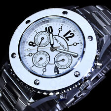 Time Force Damenuhr Armband Uhr Multifunktion Weiß SIlber Farbe 5 Atm  Edelstahl
