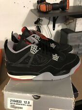 Nike Air Jordan 4 Retro - Bred 1999 - Black/Cement - 136013-001 - Size 12 - DS