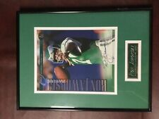 Eagles Ron Jaworski 1997 Leaf 8x10 photo autograph framed double matted nameplat