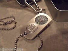 "w/ Carabiner and Metal Storage Box ""Silver"" Dog Tag Watch, Smith & Wesson,"