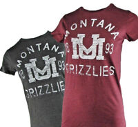 University of Montana Grizzlies Women's S/S Distress T-shirt NCAA S M L XL