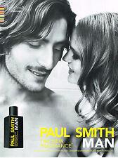 PUBLICITE ADVERTISING    2009   PAUL SMITH  parfum homme MAN              270413