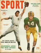 Sport Magazine, November 1953 - Rizzuto/Lattner Cover