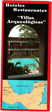 Hotels Restaurants Archaeological Sites of Mexico Teotihuacan Uxmal Brochure