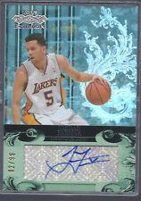 2007-2008 Topps Echelon Basketball Jordan Farmar L A Lakers Auto Card #92/99