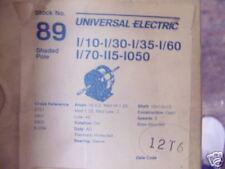 89 UNIVERSAL MOTOR 1/10-1/30-1/35-1/60-1/70 115V 1050RP