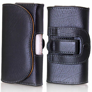 Universal Leather Belt Pouch Horizontal Loop case holder for mobile Phone