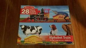 melissa & doug 28 piece FLOOR PUZZLE ALPHABET TRAIN 10 feet long