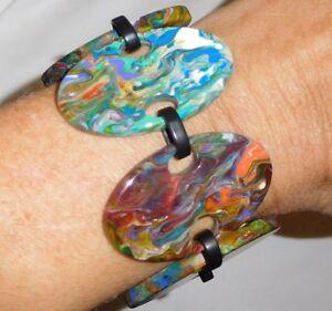 Sobral Patchwork Alinhavado Pollock Pattern Bracelet Brazil Import