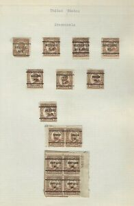 United States Classics...PRE-CANCELS 1922/32...1 1/2 cent...Lot of 14