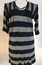 Robe Pull Nafnaf Taille 42 Bleue Et Grise