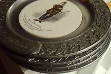 4 Wilton Pewter Author Charles Dickens Decorative Plates Porcelain Illustrations