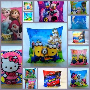 NEW Beautiful Frozen Cars Princess Mikey Mouse Kids Children Pillow Case Cushion