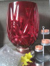 Partylite Windlicht **Roter Diamant** ++Neu/Ovp++  und Simplex + 3 Teelichter