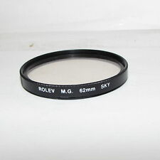 Used Rolev MG SKY Skylight 62mm Lens Filter Made in Japan O30552