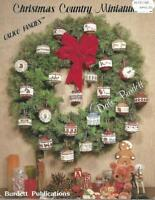 Christmas Country Miniatures for Counted Cross Stitch Dale Burdett 1983