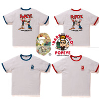*[S-2XL] A BATHING APE Men's BAPE x POPEYE TRIM TEE 2colors From Japan New