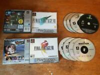 Final Fantasy 7 8 Vii VIII Games Bundle PS1 Sony Playstation Good and Near Mint