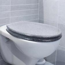 Silver Grey Glitter Toilet Seat - Sparkle Bathroom Decor