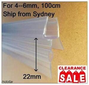 DUAL FIN PVC SHOWERSCREEN SHOWER SCREEN DOOR WATER SEAL STRIP LINING FOR 6mm 1M