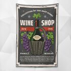 WINE SHOP Beer Festival Banner Wall Hanging Bar Wine Cellar Cafe Parties Decor photo