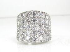 $9000 14k White Gold 5.00ctw Natural Diamond Saddle Top Ladies Ring 11.2g eb1265