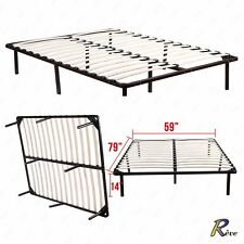 Queen Size Metal Platform Bed Frame Wood Slats Mattress Foundation Bedroom