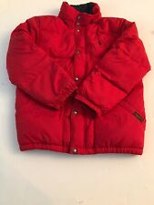 Boys Polo Ralph Lauren Red With Black Inside Puffy Vest Size Medium (10-12)