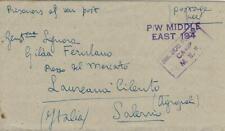 BIGLIETTO PRIGIONIERI POW CAMP 308 BENGASI LIBIA 1943 LAUREANA CILENTO