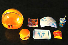 DISNEY Miniature Toy Meal Burger Fries Drink MICKEY MOUSE + Case Mcdonalds China