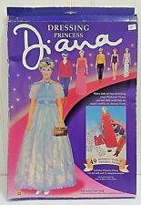 Vtg DRESSING PRINCESS DIANA Paper Dolls Mint Uncut Boxed Peter Pan Ashco 951192