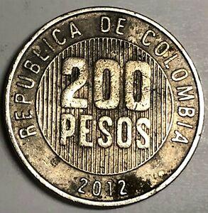 # C2012     COLUMBIA     COIN,    200  PESOS   2012