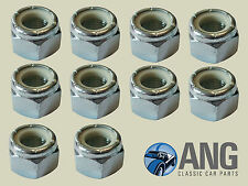 """9/16"""" UNF NYLOC LOCKING BZP NUTS (PACK OF 10)"""