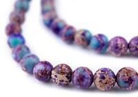 Turquoise Sea Sediment Jasper Beads 10mm Green Round Gemstone 15 Inch Strand