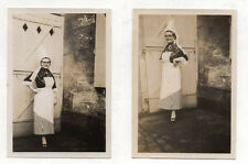 2 PHOTOS Robe Coiffe normande Normandie Vers 1930 Tablier Femme Déguisement