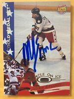 *SIGNED* MIKE ERUZIONE 1995 #12 SIGNATURE ROOKIES GOLD MEDAL SET, MIRACLE ON ICE