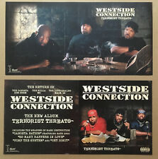 WESTSIDE CONNECTION Rare DOUBLE SIDED PROMO POSTER FLAT for Threats CD Ice Cube