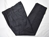 Ermenegildo Zegna Dark Gray 100% Wool Flannel Dress Pleat Trousers Size: 32x31