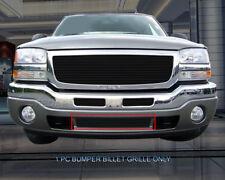 Black Bumper Billet Grille Insert For 2003-2007 GMC Sierra 1500/2500/3500