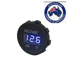 Blue Digital flat LED  Voltmeter Meter DC 12V-24V For Car Motorcycle  4x4