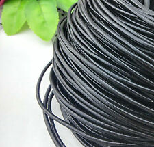 Lots Black White Leather Cord Necklace Bracelet Jewelry Making Craft 1.5/2mm DIY