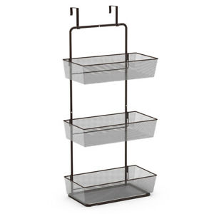 NEX  3-Tier Mesh Basket Hanging Storage Unit Over Door Pantry Rack Organizer